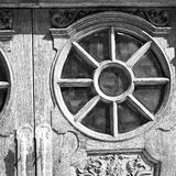 Old londo   n door in england and wood ancien abstract hinged Stock Images