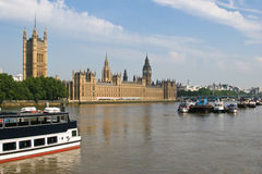Old London. Parliament house in London, England stock photo