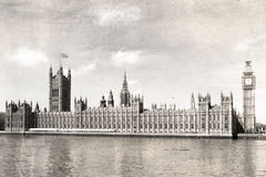 Old London , black and white, vintage photo. Royalty Free Stock Photos