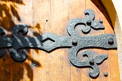 Old london door in ancien  hinged Royalty Free Stock Images