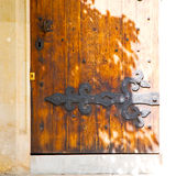 Old london     door in england and wood ancien abstract hinged Royalty Free Stock Photo