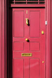 Old London door, newly painted. Stock Photos