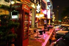 Old London feel night street Royalty Free Stock Photo