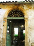 Old and lonely. An abandoned old house in Nicosia, Cyprus Royalty Free Stock Photo