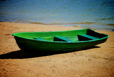 Old Lonely Boat Royalty Free Stock Photography