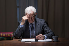 Old lonely businessman Stock Photos