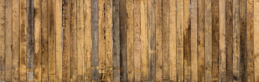 Old Long Wooden Wall. Stock Photos