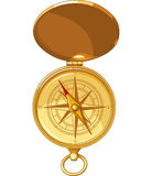 Old Look Compass With Windrose Royalty Free Stock Image