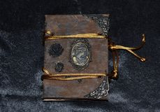 Old-looking handmade notebook, front view. Old-looking notebook, handmade by photographer, front view Stock Photography