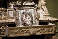 Old looking photo frame Stock Photos