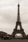 Old-looking Tour Eiffel Stock Image