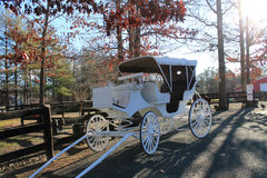 Old looking white carriage 1 Stock Photo