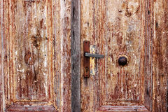 Old-looking wooden doors Royalty Free Stock Photography