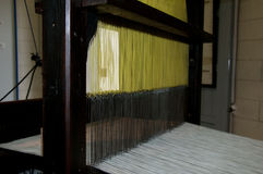 Old loom with  cotton Royalty Free Stock Photography