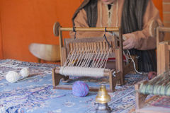 Old loom weaving Royalty Free Stock Photo