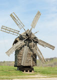 Old lop-sided wooden mill Royalty Free Stock Image