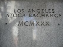 The Old Los Angeles Stock Exchange Signage royalty free stock photography