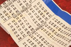 Old lottery ticket Stock Images