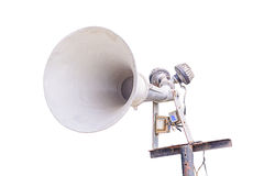 Old loudspeaker isolated Stock Images