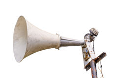 Old loudspeaker isolated Stock Photography