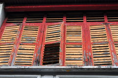 Old louvered windows Royalty Free Stock Photos