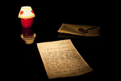 Old love letter Royalty Free Stock Images