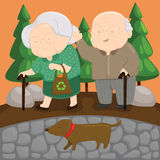 Old Love. A vector of old couple Royalty Free Stock Images