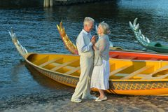 Old loving couple Royalty Free Stock Photo