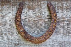 Old lucky horseshoe Stock Photos