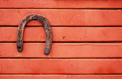 Old lucky horseshoe Royalty Free Stock Images