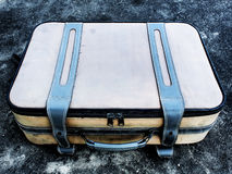 Old luggage. On floor background Royalty Free Stock Image