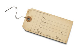 Old Luggage Tag Stock Images