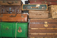 Old luggages Royalty Free Stock Photography