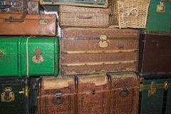 Old luggages Stock Images