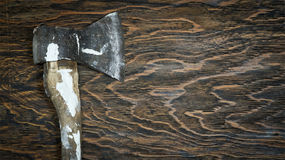 Old lumber axe Royalty Free Stock Image
