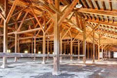 Old lumber mill hall Royalty Free Stock Photography