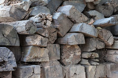 Old lumber. Pile of old lumber wood Royalty Free Stock Photo