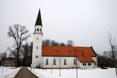 Old Lutheran Church of St. Berthold in Sigulda, Latvia Stock Image