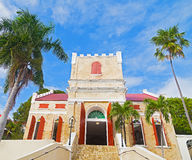 Old Lutheran Church on St Thomas Island, US VI. Royalty Free Stock Photos