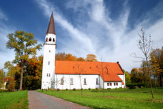 Old luthetan church in Sigulda. Latvia royalty free stock images