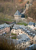 Old Luxembourg. Houses in Grund royalty free stock images