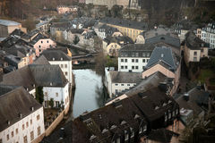 Old Luxembourg. Houses in Grund royalty free stock photography