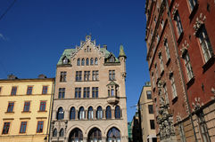 Old luxurious building in the center of Stockholm Royalty Free Stock Image
