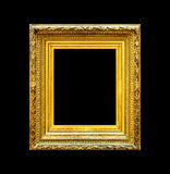 Old luxury gold frame isolated on black Royalty Free Stock Image
