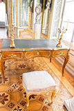 Old luxury interior. Old luxury library in palace interior Royalty Free Stock Photo