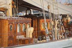 Old Luxury Yacht Stock Image