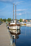 The old Lydia yacht in the harbor of Lappeenranta in the sunny summer day. Finland Royalty Free Stock Photo