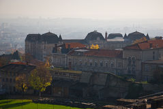 Old Lyon. View from the Roman amphitheater in Lyon royalty free stock photos