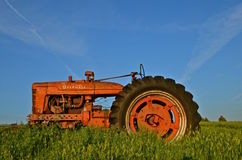 Old M Farmall Tractor Stock Photo