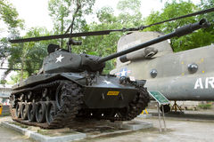 Old M41 tank on display Stock Photo